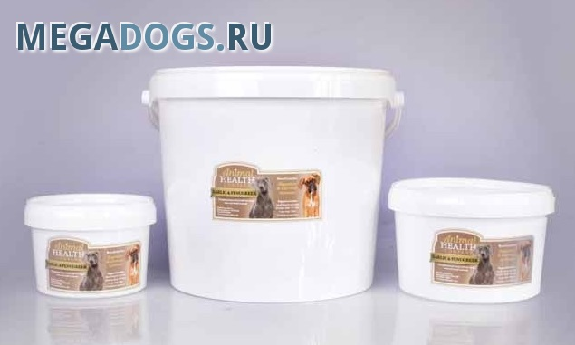 Animal Health Кормовая биодобавка для собак Garlic Fenugreek (повышение иммунитета, аппетита, ЖКТ)
